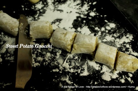 Making the Sweet Potato Gnocchi
