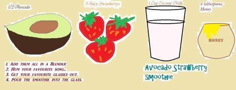 Avocado Strawberry Smoothie